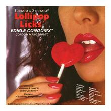 Lollipop Licks Edible Condoms 4 Pack