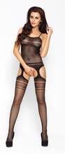 Black Suspender Catsuit - Bow Design