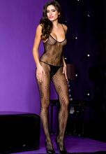 Crotchless bodystocking with spaghetti straps