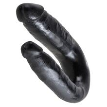 King Cock Small Double Trouble Black