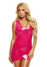 Latex Mini Dress - Pink