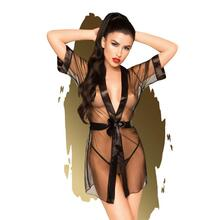 Penthouse Lingerie - Midnight Mirage Kimono With Thong