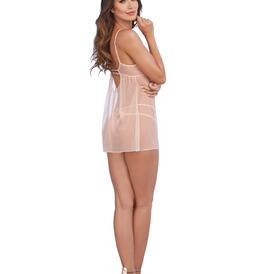 Champagne Embroidered Lace Chemise