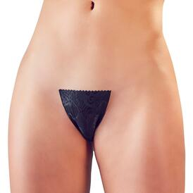 Black Adhesive Invisible G-String