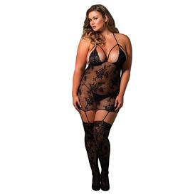 Leg Avenue Strappy Suspender Bodystocking UK 18 to 22