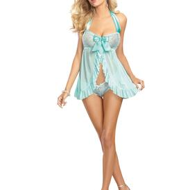 Lace Galloon Babydoll and Thong