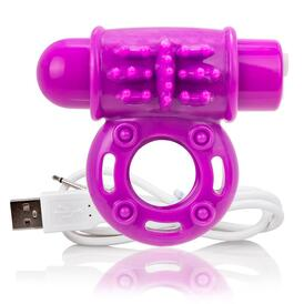 Charged OWow Purple Vibrating Cock Ring