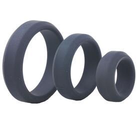 Triple Black Silicone Cock Rings