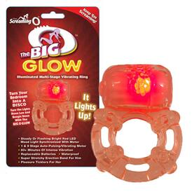 The Big O Glow Vibrating Cock Ring