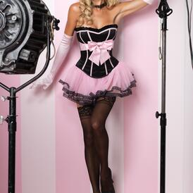 Black/Pink Marilyn Corset