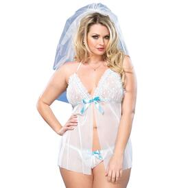 Leg Avenue Mesh Babydoll And G-String UK 18 to 22