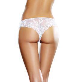 Microfiber Bikini Panty with Cross-Dye Lace Cheeky Back