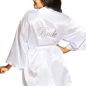 Plus Size Bride Babydoll and Robe