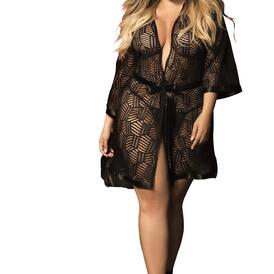 Plus Size Robe with Matching G-String