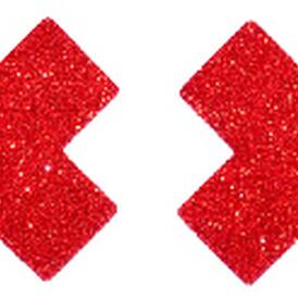 Red Glitter Cross Nipple cover- 1 pair