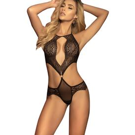 Scalloped Geometric Lace Mapale Teddy