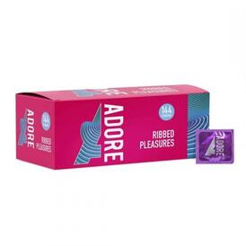 Adore Ribbed Pleasure condoms 144 pcs