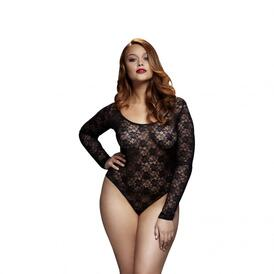 Baci - Lace Bodysuit With Open Back - Curvy