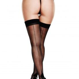 Baci - Sexy Seamed Stockings - Black
