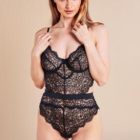 Bettany Lace Bodysuit - Black