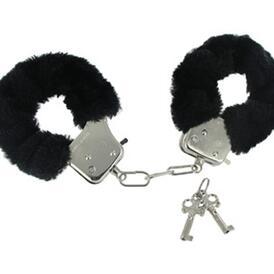Caught In Candy Velvet Handcuffs - Black