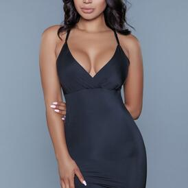 Curved Craze Shaping Dress - Black