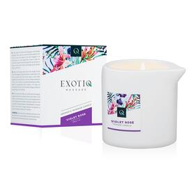 Exotiq Massage Candle Violet Rose - 200g