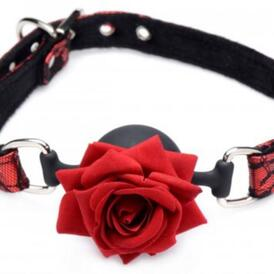 Eye-Catching Ball Gag With Rose