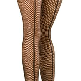Fishnet Stockings with Seam