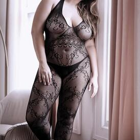 Good As Hell Crotchless Catsuit - Curvy
