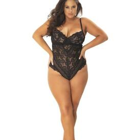 Lace Body with Eye-Catching Back - Curvy