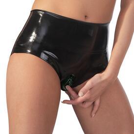 Latex Briefs With Vagina Sleeve