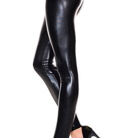 Liquid look leggings BLACK