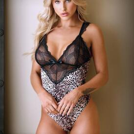 Lorena Body With Lace - Panther Print