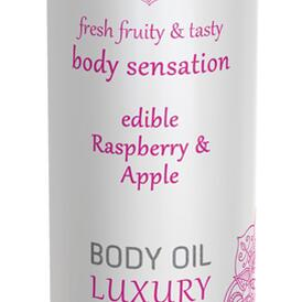 Luxury Body Oil Edible - Raspberry & Apple