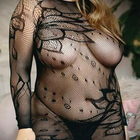 Made For You High neck Floral Lace dress And G-String