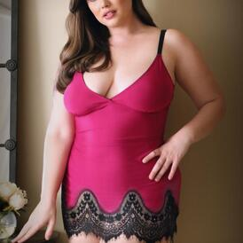 Melanie Dress With Thong - Raspberry