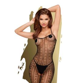 Penthouse Lingerie - Crotchless Dark Wish Catsuit
