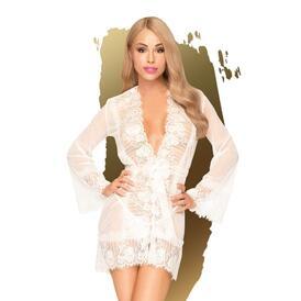 Penthouse Lingerie - Hypnotic Power Kimono With Thong - White
