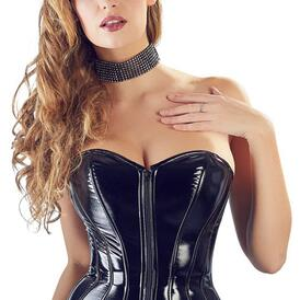 PVC Corset With Suspenders