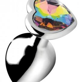 Rainbow Heart Butt Plug - Medium