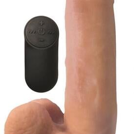Realistic Vibrating Dildo With Suction Cup - Skin Tone