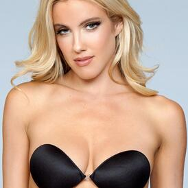 Smooth Invisible Adhesive Bra - Black