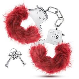 Temptasia - Plush Fur Cuffs - Burgundy