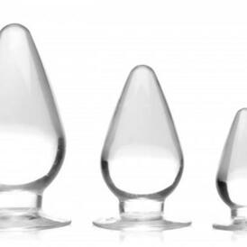 Triple Cones Anal Plug Set Of 3 - Clear