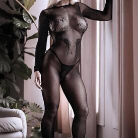 Unleash Me Crotchless Catsuit - Black