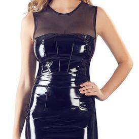 Vinyl Dress With Mesh