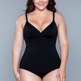 What Waist Corrective Bodysuit - Black