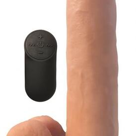 XL Realistic Vibrating Dildo With Suction Cup - Skin Tone